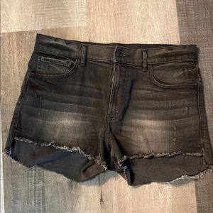 EXPRESS black jean shorts